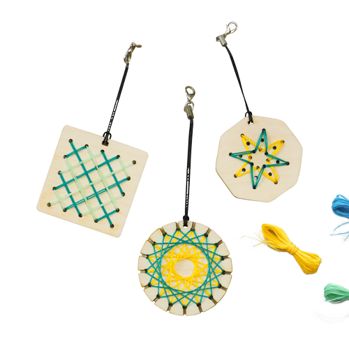 Stitched and Spirelli Keychains product image
