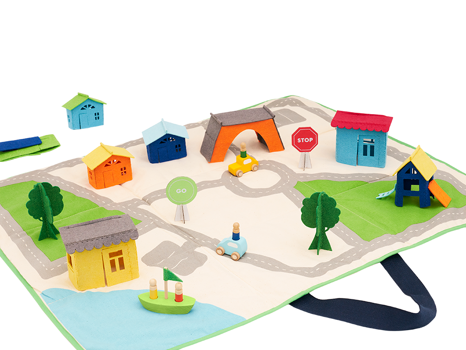 Pop-up Felt Play Mat product image