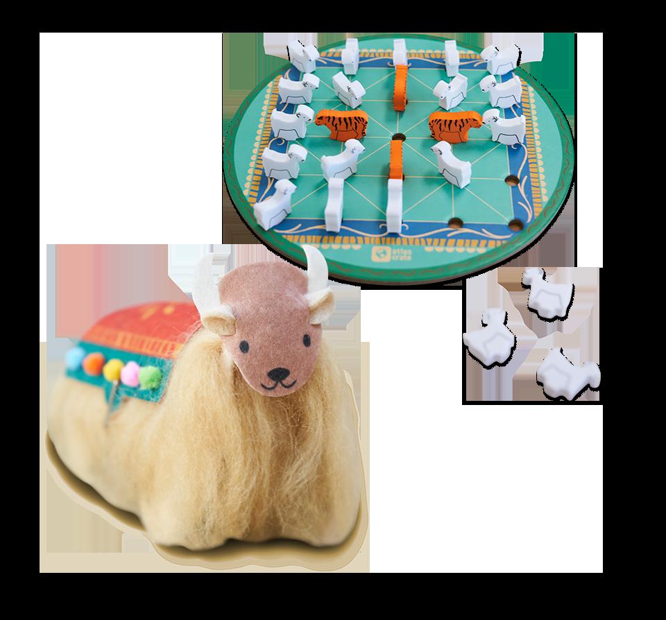 toy game for children Ages 5-8-BNIB 5-Pack KIWICO Kiwi Crate Classics